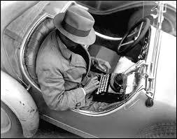 typing car